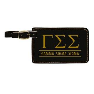 Gamma Sigma Sigma Leatherette Luggage Tag