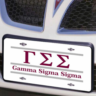Gamma Sigma Sigma Lettered Lines License Cover