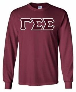 Gamma Sigma Sigma Lettered Long Sleeve Tee- MADE FAST!