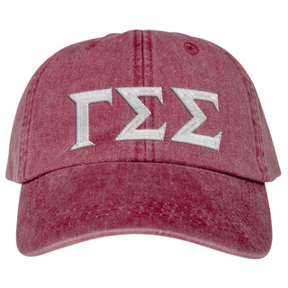 Gamma Sigma Sigma Lettered Premium Pastel Hat