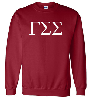 Gamma Sigma Sigma Lettered World Famous $19.95 Greek Crewneck