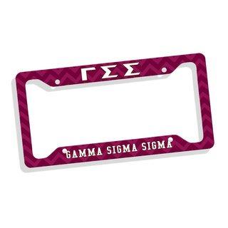 Gamma Sigma Sigma Custom License Plate Frame