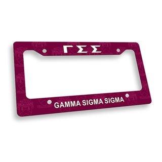 Gamma Sigma Sigma License Plate Frame