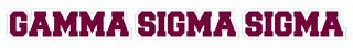 Gamma Sigma Sigma Long Window Sticker