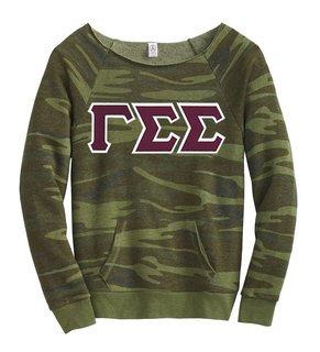 DISCOUNT-Gamma Sigma Sigma Maniac Camo Fleece Sweatshirt