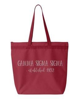 Gamma Sigma Sigma New Established Tote Bag