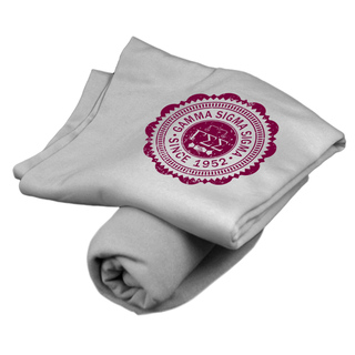Gamma Sigma Sigma Old School Seal Sweatshirt Blanket