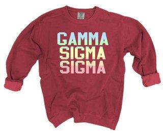 Gamma Sigma Sigma Pastel Rainbow Crew - Comfort Colors