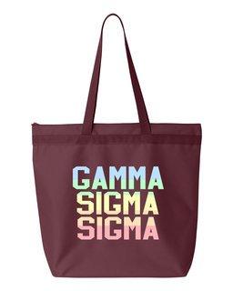Gamma Sigma Sigma Pastel Tote Bag