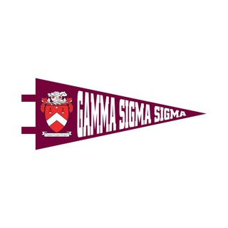 "Gamma Sigma Sigma Pennant Decal 4"" Wide"