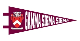 Gamma Sigma Sigma Pennant Decal Sticker