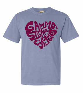 Gamma Sigma Sigma Piece of My Heart Sorority Comfort Colors T-Shirt