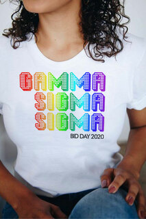 Gamma Sigma Sigma Pixel Tee - Comfort Colors