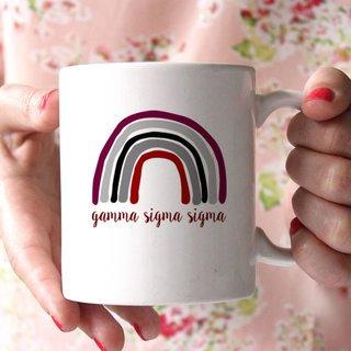 Gamma Sigma Sigma Rainbow Coffee Mug