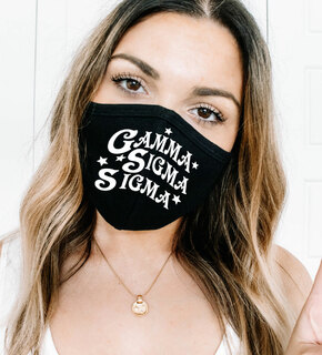 Gamma Sigma Sigma Star Struck Face Mask