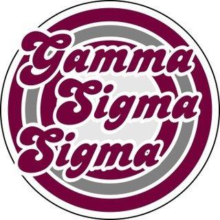 Gamma Sigma Sigma Retro Round Decals