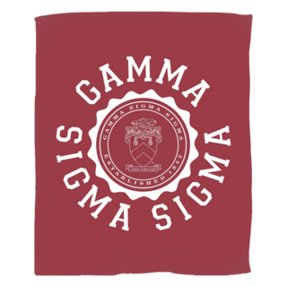 Gamma Sigma Sigma Seal Fleece Blanket