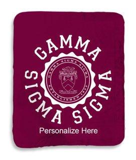 Gamma Sigma Sigma Seal Sherpa Lap Blanket