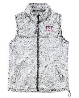 Gamma Sigma Sigma Smoky Grey Sherpa Vest