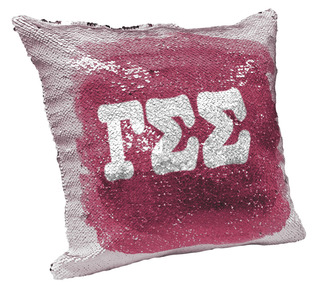 Gamma Sigma Sigma Sorority Flip Sequin Throw Pillow Cover