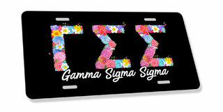 Gamma Sigma Sigma Sorority Floral Greek License Cover