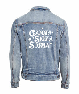 Gamma Sigma Sigma Star Struck Denim Jacket