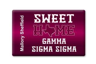 Gamma Sigma Sigma Sweet Home Ceramic Magnet