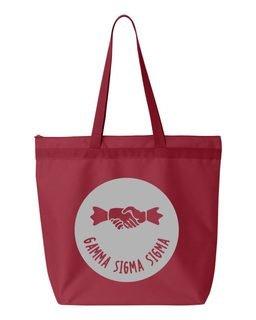Gamma Sigma Sigma Symbol Circle Mascot Tote Bag