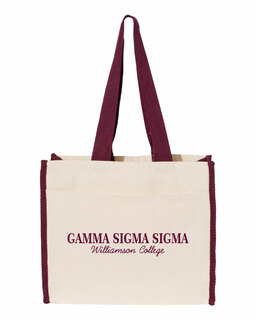 Gamma Sigma Sigma Tote with Contrast-Color Handles