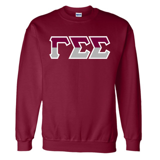 Gamma Sigma Sigma Two Tone Greek Lettered Crewneck Sweatshirt
