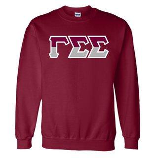 Gamma Sigma Sigma Two Tone Greek Lettered Crewneck Sweatshirt