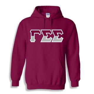 Gamma Sigma Sigma Two Tone Greek Lettered Hooded Sweatshirt