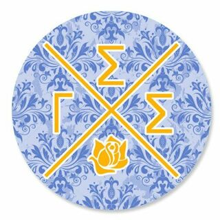 Gamma Sigma Sigma Well Balanced Round Decals