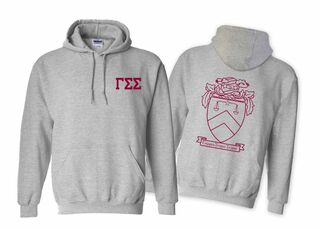 Gamma Sigma Sigma World Famous Crest - Shield Hooded Sweatshirt- $35!