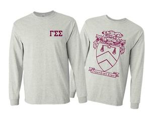 Gamma Sigma Sigma World Famous Crest - Shield Long Sleeve T-Shirt - $19.95!