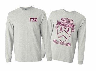 Gamma Sigma Sigma World Famous Crest Long Sleeve T-Shirt- MADE FAST!