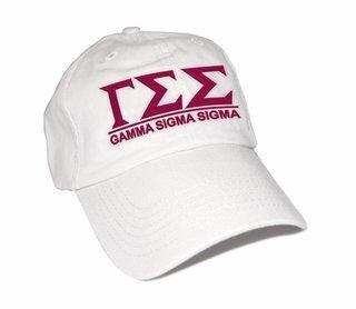 Gamma Sigma Sigma World Famous Line Hat - MADE FAST!
