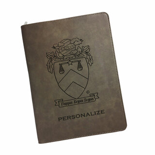 Gamma Sigma Sigma Zipper Leatherette Portfolio with Notepad