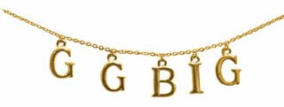 Great Grand Big Sister Sorority Necklace GGBig Sis