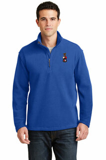 Fraternity & Sorority Crest Quarter Zip Fleece Pullover