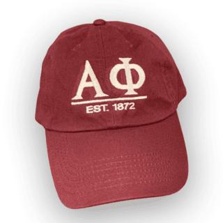 Fraternity & Sorority Est Letter Hat