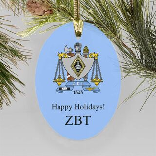 Greek Holiday Color Crest - Shield Ornament