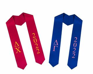 Greek Lettered Graduation Sash Stole With Year - Best Value