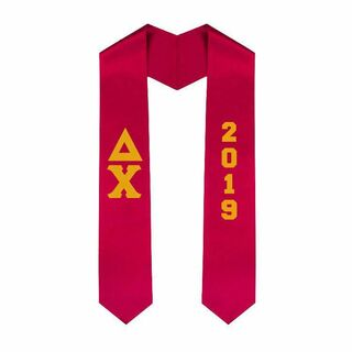 Greek Lettered Graduation Sash Stole