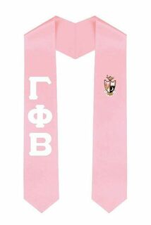Greek Lettered Graduation Stole w/ Crest