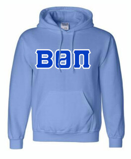 Hand Sewn Greek Twill Lettered Hoodie