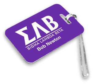 Greek Lettered Luggage Tag