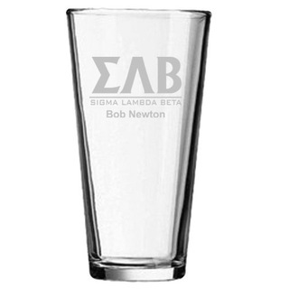 Greek Lettered Mixing Glass