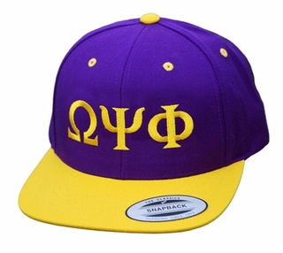 Greek Lettered Snapback Caps