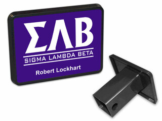 Greek Lettered Trailer Hitch Covers